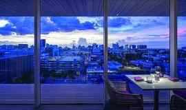 La vue sur Miami depuis Juvia.
