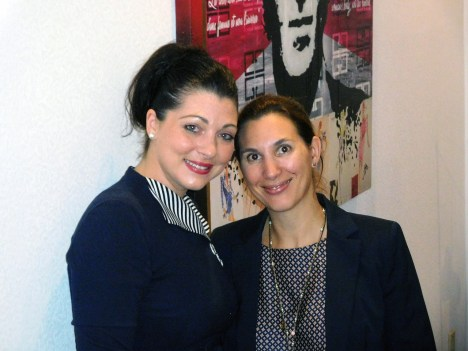 Michèle Fontanière et Me Aline Martin O'Brien.