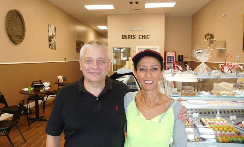 Willy et Jamila Trouillez dans leur Paris Chic Bakery de Palm Beach Gardens