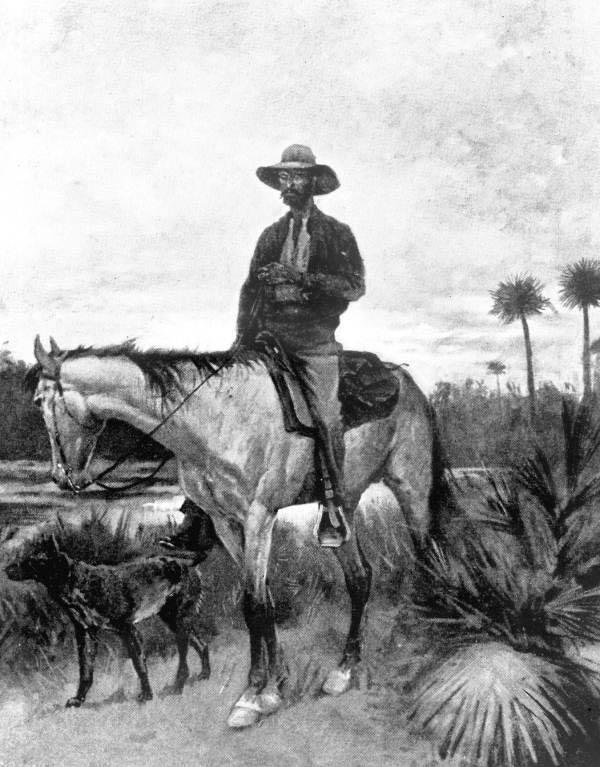 """Le célèbre tableau de Remington : """"A Cracker Cowboy"""""""