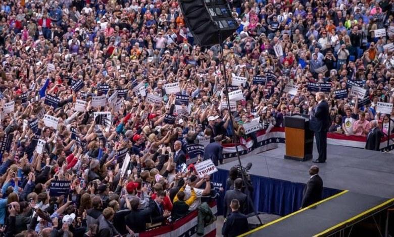 Donald Trump est le seul à attirer des foules incroyables à ses réunions publiques, même si Bernie Sanders (Dém) n'est parfois pas en reste. (crédit photo : https://www.facebook.com/DonaldTrump )