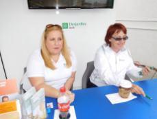 QuébecFest 2016 : ambiance au stand de la Desjardins Bank