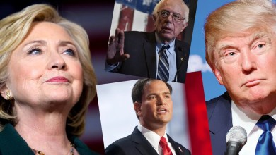 Hillary Clinton, Bernie Sanders, Marco Rubio, donald Trump (Photos facebook des candidats)