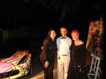 Côté artistes : Michèle Fontanière (Pop-Up Gallery Miami), le peintre Duaiv et sa femme Magella - 30 ans du Consulat de France à Miami