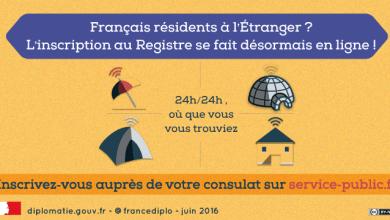 Inscription au registre des français de l'étranger