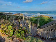 La plage sud de Deerfield Beach