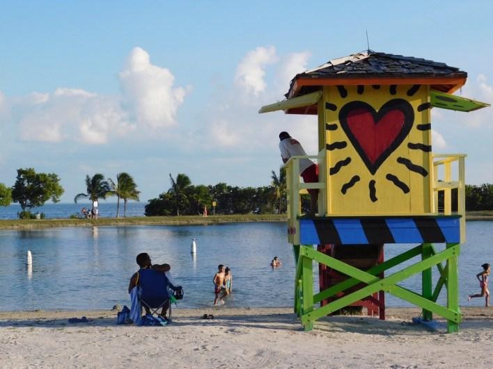 Plage de Homestead Bayfront Park (près de Miami en Floride)