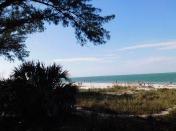 Bean Point : la plage nord d'Anna-Maria Island en Floride.