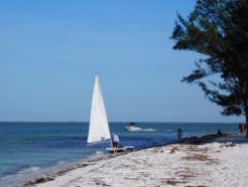 Plage d'Anna-Maria Island en Floride.