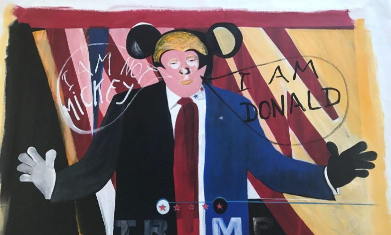"""Donald"" par l'artiste Nita Ker."