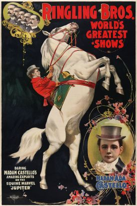 Affiche du cirque Ringling Barnum Bailey