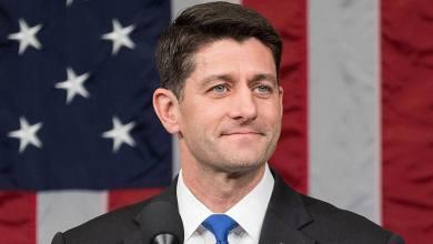 """Paul Ryan, le """"speaker"""" Républicain de la Chambre des Représentants."""