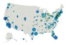 Ls villes et Etats préférés des Américains