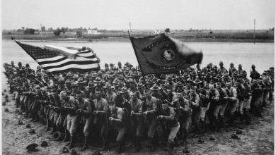 Soldats américains durant la première guerre mondiale