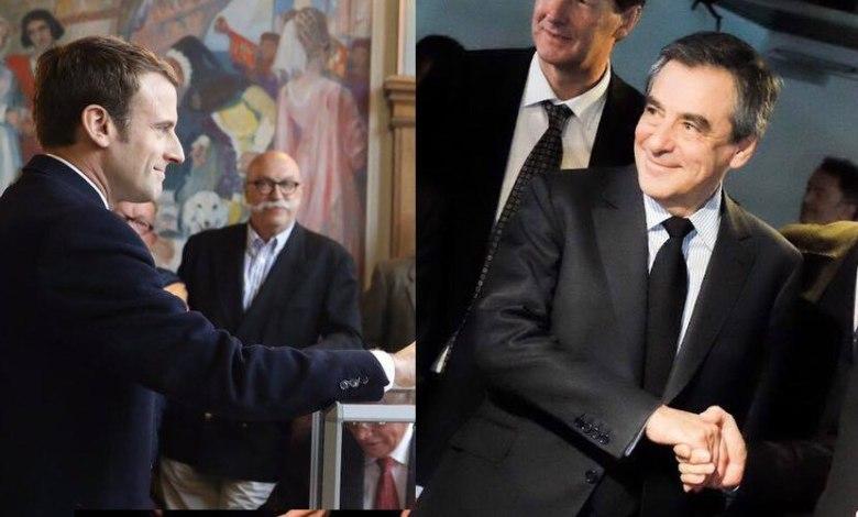 Emmanuel Macron et François Fillon