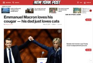 """Brigitte Macron est une """"Cougar"""" pour le New York Post"""