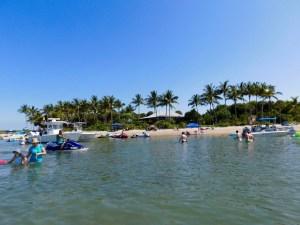 Plage nord de Peanut Island en Floride.