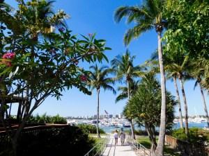 Plage nord de Peanut Island, près de West Palm Beach en Floride.