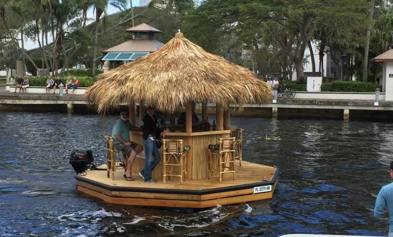 Tiki bar flottant à Fort Lauderdale