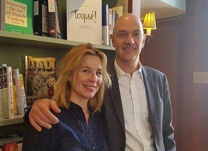 Roland Lescure et sa suppléante, Pascale Richard, qui vit pour sa part à New-York depuis 20 ans.