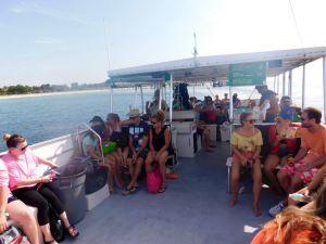 Ferry vers Egmont Key, au large de St Petersburg en Floride