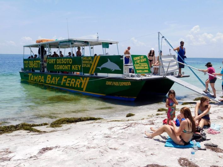 Ferry pour l'île d'Egmont Key en Floride