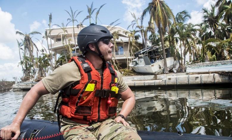 Photo de la Florida National Guard patrouillant à Big Pine Key après le passage d'Irma (CC BY 2.0)