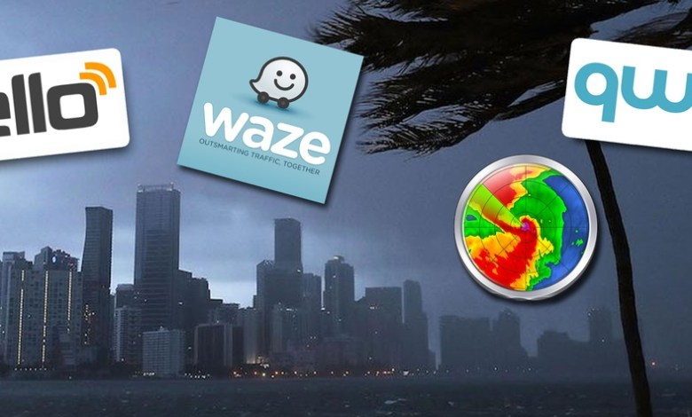 Les applications mobiles (apps) utiles en cas d'ouragan.
