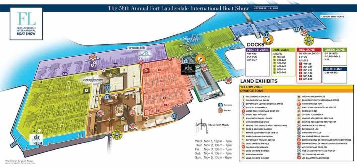 Carte du Fort Lauderdale Boat Show 2017