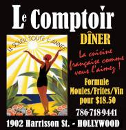 Restaurant Le Comptoir à Hollywood en Floride