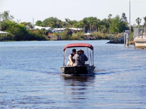 Le Lake Okeechobee à Moore Haven (Floride)