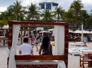 Au Nikki Beach, à South Pointe / South Beach / Miami Beach