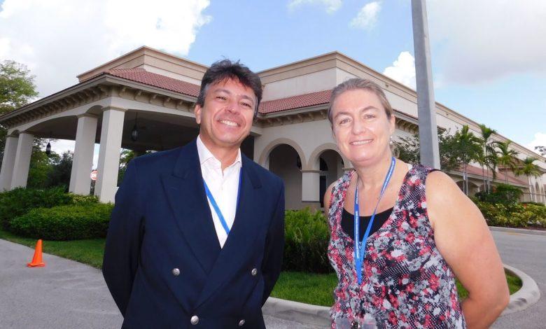 Antonio Rodrigues et Virginie Askinasi du Lycée Franco-Américain (LFA) sz Cooper City annoncent l'ouverture d'un collège dans cette ville proche de Fort Lauderdale (Floride) dès la rentrée 2018