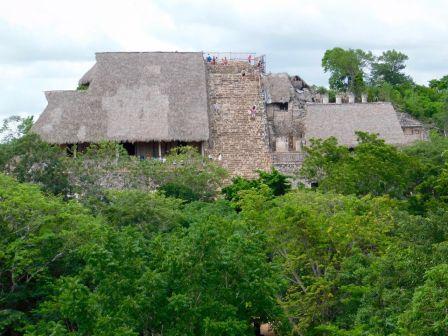 Site maya d'Ek Balam, au nord de Valladolid, dans le Yukatan.