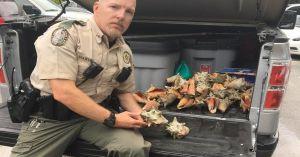 agent John Martino de la Florida Fish and Wildlife Conservation Commission (FWC) qui l'a interpellée après avoir été prévenu par un passant.