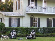 Maison décorée pour Halloween dans le quartier de Victoria Park à Fort Lauderdale (en Floride)
