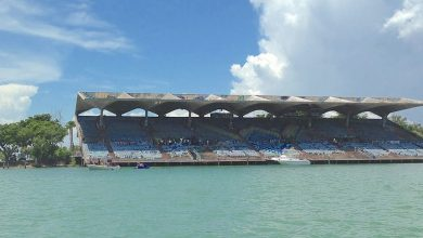 Le Marine Stadium de Miami sur Virginia Key