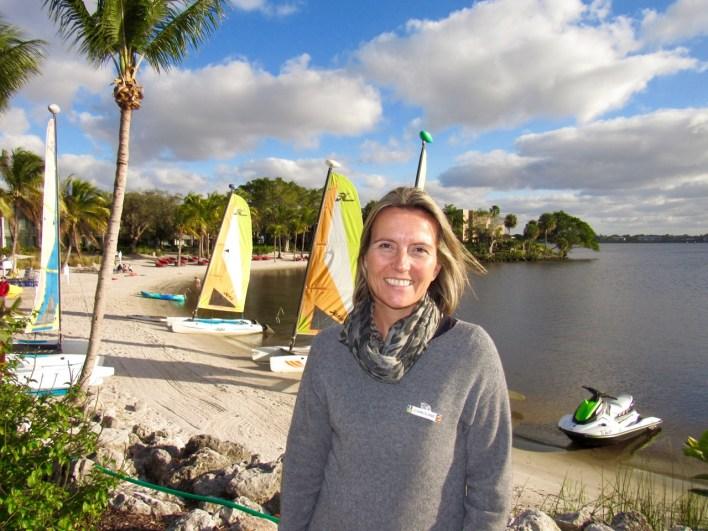 Caroline Pirotte, au Club Med Sandpiper Bay à Port St Lucie en Floride