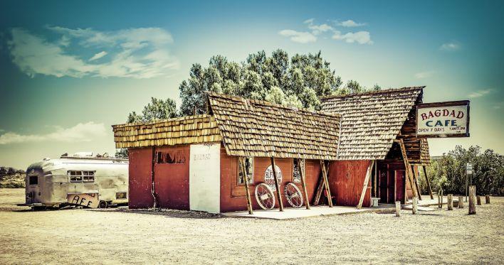 Bagdad Cafe à Newberry Springs (Californie).