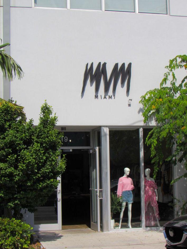 Boutique MVM Miami dans le quartier de Wynwood