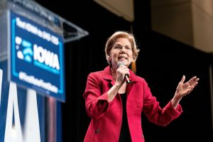 Elizabeth Warren en campagne à Cedar Rapids (Iowa) en 2019.