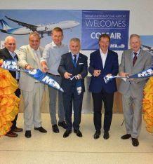 Inauguration de la ligne Paris-Miami Corsair, aéroport de Miami (Crédit photo : FACC)