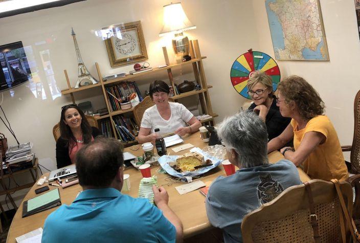 Cours d'italien en groupe (Crédit photo : Multilingual Society)
