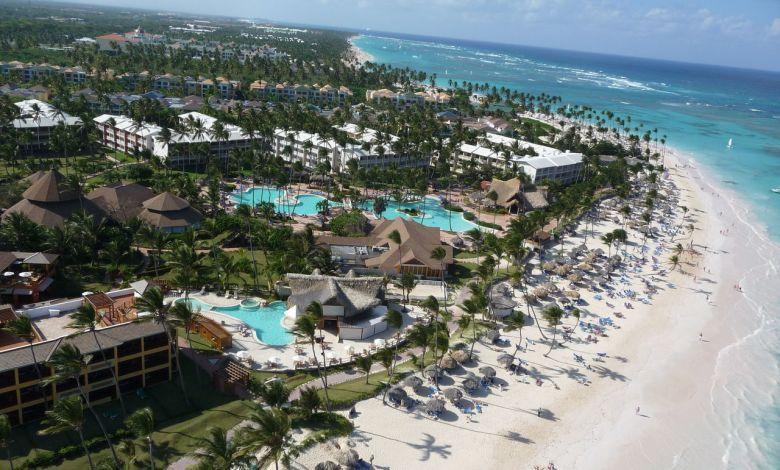 La playa Bavaro de Punta Cana vue du ciel