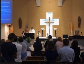 Messe en français, Communauté Catholique Francophone de Miami (Crédit photo : CCFM)