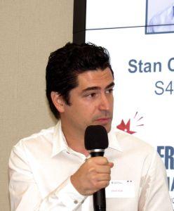 """David Azar durant la table ronde """"French Tech Miami"""""""