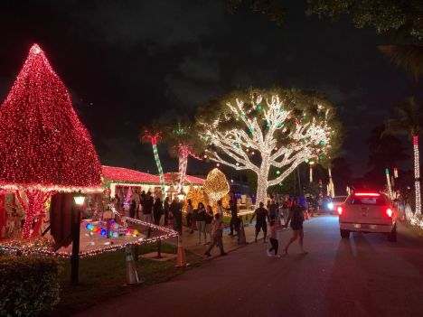 Décorations de Noël à Pompano Beach en Floride