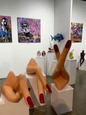 Expositions et foires d'art contemporain Red Dot et Spectrum dans le quartier de Wynwood à Miami.