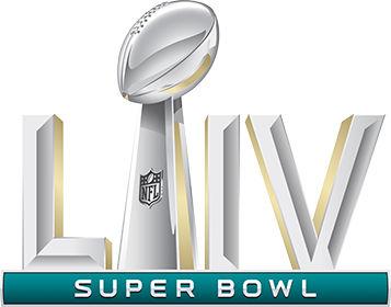 """Le logo du Super Bowl """"LIV"""""""