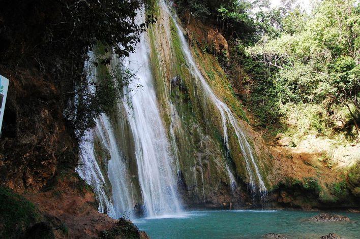La cascade (Salto) El Limon sur la péninsule de Samaná en République Dominicaine.